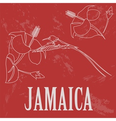 Jamaica landmarks Retro styled image vector image vector image