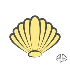 Sea shell logo or icon vector