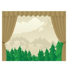 Wilderness Scene Stagejpg vector image vector image
