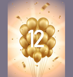 12th year anniversary background vector image