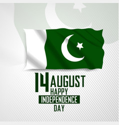 14 august happy independence day pakistan vector