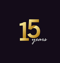 15 years anniversary celebration gradient vector