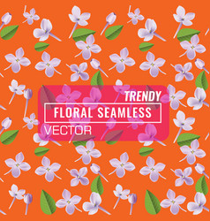 3d floral seamless pattern background texture vector