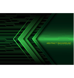 Abstract green arrow light circuit power vector