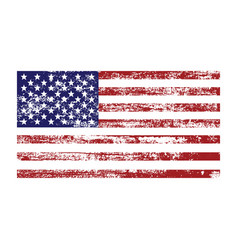 American flag with abstract grunge texture vector