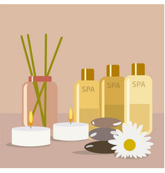 aroma therapy set a collection of home fragrances vector image