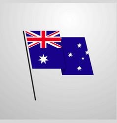 australia waving flag design background vector image