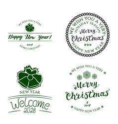 Badges collection lettering vector