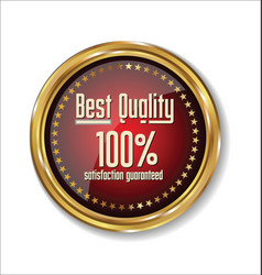 best quality badge vector image