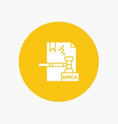 Business copyright digital dmca file vector