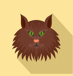 cat head icon flat style vector image