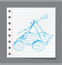 catapult doodle vector image