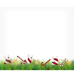 christmas card ornament hanging on tree vector image