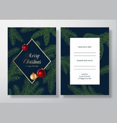christmas frame abstract invitation card vector image