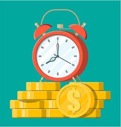 Clock dollar golden coins vector