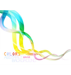 Colorful lines shape scene vector