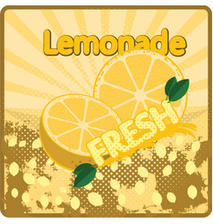 Colorful vintage lemonade fresh label poster vector