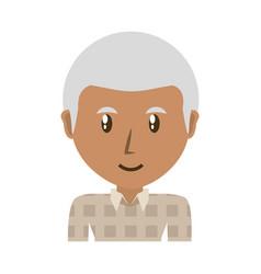 Cute grandfather cartoon vector