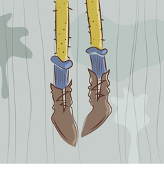 Dangling feet vector