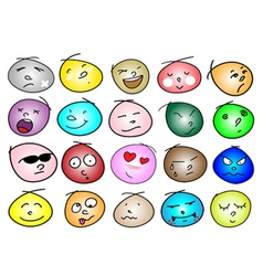 Different Variations Emotion Ic vector image