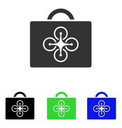 Drone toolcase flat icon vector