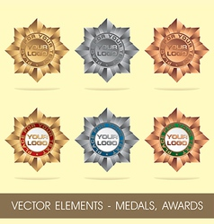 elements - medals awards vector image