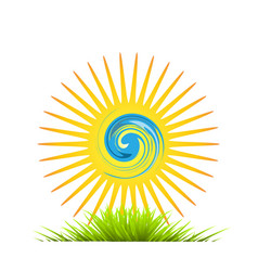 environment abstract sun shine and green field vector image