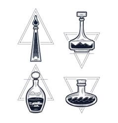 four elements potion bottles set vector image