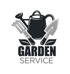 Gardening service icon of garden tools vector