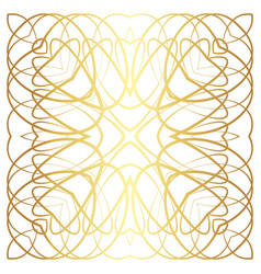 gold lines abstract floral pattern vector image