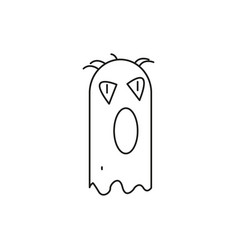 halloween monster ghost icon vector image