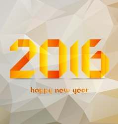 Happy new year 2016 Abstract Geometric Background vector image