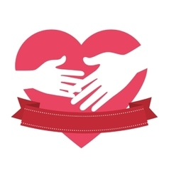 Heart fathers day icon vector