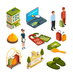 Hotel services isometric vector