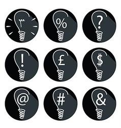Ideas bulbs set of icons vector