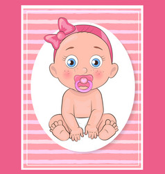 its a girl poster dedicated to baby shower day vector image