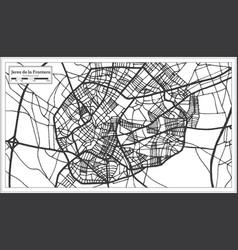 jerez de la frontera spain city map in retro vector image