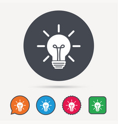 Light bulb icon lamp illumination sign vector