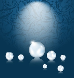 Luxury dark background with pearl reflect vector