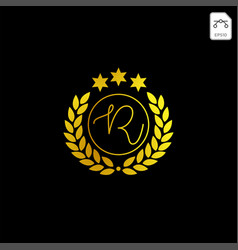 Luxury r initial logo or symbol business company vector