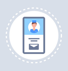 male doctor online consultation mobile application vector image