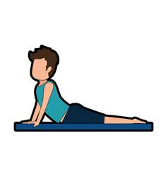 man practicing yoga avatar vector image