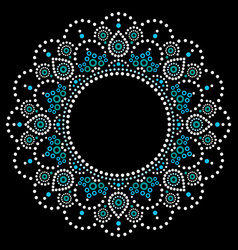 Mandala aboriginal dot painting tribal desi vector