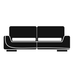 Modern sofa icon simple style vector