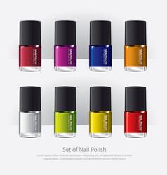 nail polish colorful realistic vector image