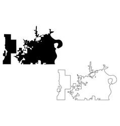 Omaha city map vector
