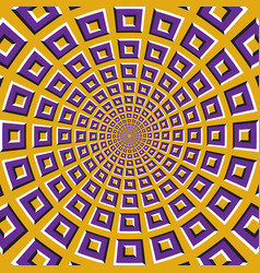 Optical purple squares fly apart vector