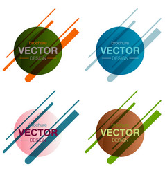 Patterns setminimalistic design creative concept vector