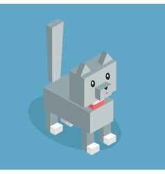 Pets Cat Icon Isometric 3d Design vector