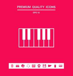 piano keyboard icon graphic elements for your vector image